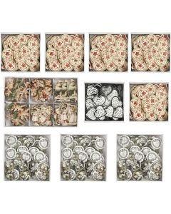 Trestickers , str. 20-50 mm, Innhold kan variere , 10 pk./ 1 kasse