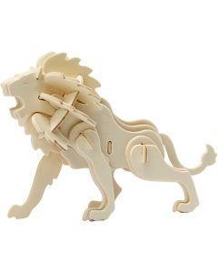 3D konstruksjonsfigur, løve, str. 18,5x7x7,3 , 1 stk.