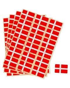 Selvklebende flagg, str. 15x22 mm, 72 stk./ 1 pk.