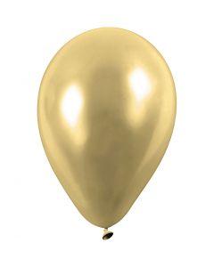Ballonger, runde, dia. 23 cm, gull, 8 stk./ 1 pk.