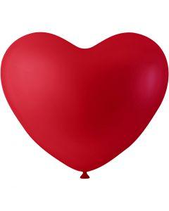 Ballonger, hjerter, rød, 8 stk./ 1 pk.