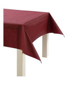 Duk av imitert stoff, B: 125 cm, 70 g, vinrød, 10 m/ 1 rl.