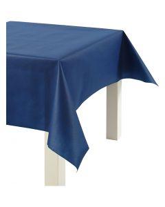 Duk av imitert stoff, B: 125 cm, 70 g, mørk blå, 10 m/ 1 rl.