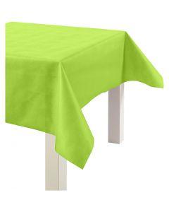 Duk av imitert stoff, B: 125 cm, 70 g, limegrønn, 10 m/ 1 rl.