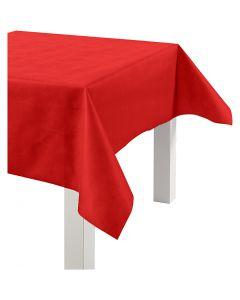 Duk av imitert stoff, B: 125 cm, 70 g, rød, 10 m/ 1 rl.