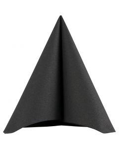 Servietter, str. 40x40 cm, 60 g, svart, 20 stk./ 1 pk.