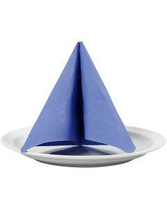 Servietter, hvit bakside, str. 33x33 cm, lys blå, 20 stk./ 1 pk.