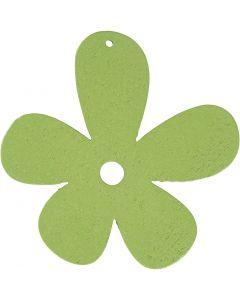 Blomst, str. 57x51 mm, limegrønn, 10 stk./ 1 pk.