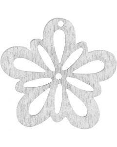 Blomst, dia. 27 mm, hvit, 20 stk./ 1 pk.
