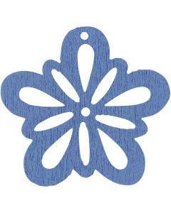 Blomst, dia. 27 mm, lys blå, 20 stk./ 1 pk.