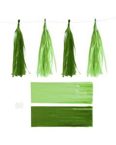 Dusk, str. 12x35 cm, 14 g, mørk grønn/lime, 12 stk./ 1 pk.