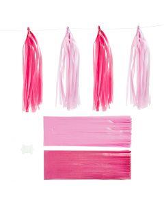 Dusk, str. 12x35 cm, pink, lys rød, 12 stk./ 1 pk.
