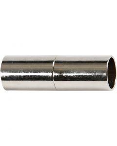Magnetlås, L: 20 mm, hullstr. 5 mm, forsølvet, 2 stk./ 1 pk.