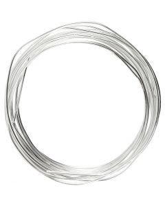 Sølvtråd, tykkelse 1,2 mm, forsølvet, 3 m/ 1 rl.