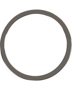 Smykkeanheng, dia. 30 mm, mørk grå metallic, 2 stk./ 1 pk.