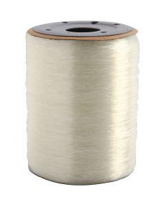 Elastisk smykketråd, rund, tykkelse 0,8 mm, 1000 m/ 1 rl.