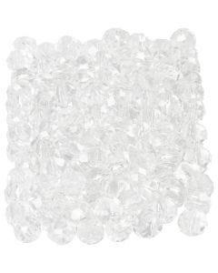 Facettperler, str. 3x4 mm, hullstr. 0,8 mm, krystall, 100 stk./ 1 pk.