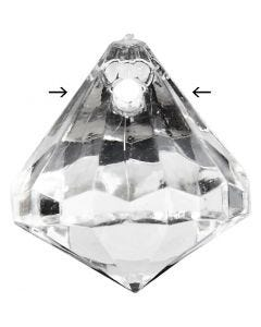 Prisme, str. 17x16 mm, hullstr. 1,2 mm, Blank transparent, 43 stk./ 1 pk.