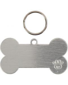 Hunde tag kit, str. 40 mm, 4 sett/ 1 pk.