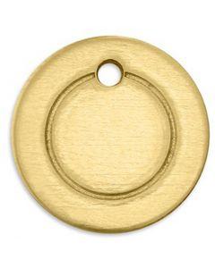 Tag, Ring, dia. 13 mm, hullstr. 1,85 mm, tykkelse 1 mm, messing, 11 stk./ 1 pk.