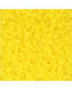 2-cut, dia. 1,7 mm, str. 15/0 , hullstr. 0,5 mm, transparent gul, 500 g/ 1 pose