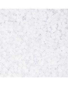 2-cut, dia. 1,7 mm, str. 15/0 , hullstr. 0,5 mm, hvit, 500 g/ 1 pose