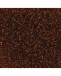 2-cut, dia. 1,7 mm, str. 15/0 , hullstr. 0,5 mm, brun, 25 g/ 1 pk.