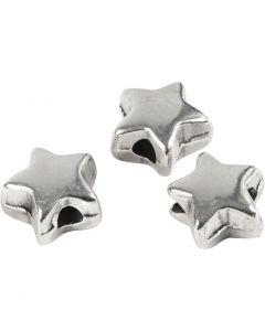 Leddperle, str. 5,5x5,5 mm, hullstr. 1 mm, forsølvet, 3 stk./ 1 pk.