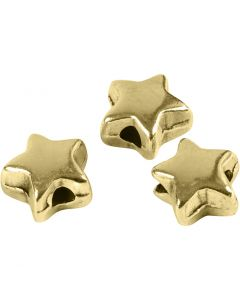 Leddperle, str. 5,5x5,5 mm, hullstr. 1 mm, forgylt, 3 stk./ 1 pk.