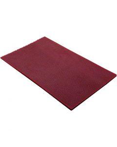 Bivoksplater, str. 20x33 cm, tykkelse 2 mm, vinrød, 1 stk.