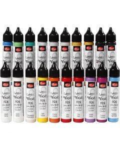 Lysvoks, ass. farger, 20x28 ml/ 1 pk.