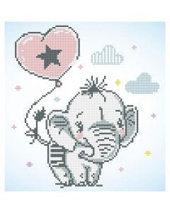 Diamant Dotz, Baby elefant, str. 28x35,5 cm, 1 pk.