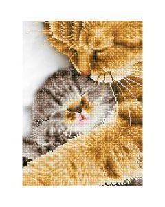 Diamant Dotz, Katt og kattunge, str. 35,5x45,7 cm, 1 pk.