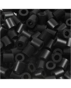 Rørperler, str. 5x5 mm, hullstr. 2,5 mm, medium, black (32220), 6000 stk./ 1 pk.