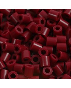 Rørperler, str. 5x5 mm, hullstr. 2,5 mm, medium, vinrød (32239), 1100 stk./ 1 pk.
