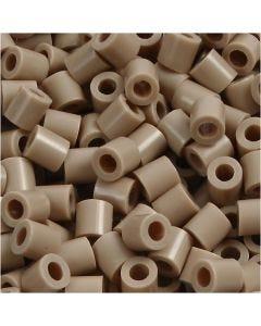 Rørperler, str. 5x5 mm, hullstr. 2,5 mm, medium, beige (32248), 6000 stk./ 1 pk.