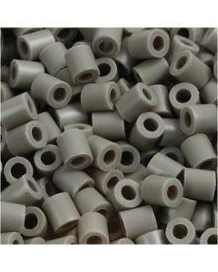 Rørperler, str. 5x5 mm, hullstr. 2,5 mm, medium, askegrå (32226), 1100 stk./ 1 pk.
