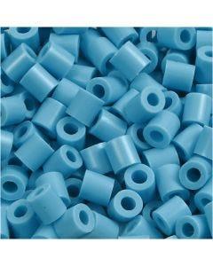 Rørperler, str. 5x5 mm, hullstr. 2,5 mm, medium, turkis (32256), 6000 stk./ 1 pk.