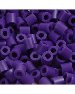 Rørperler, str. 5x5 mm, hullstr. 2,5 mm, medium, mørk lilla (32234), 1100 stk./ 1 pk.
