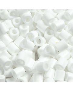 Rørperler, str. 5x5 mm, hullstr. 2,5 mm, medium, hvit (32221), 1100 stk./ 1 pk.