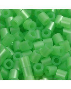 Rørperler, str. 5x5 mm, hullstr. 2,5 mm, medium, grønn perlemor (32240), 6000 stk./ 1 pk.