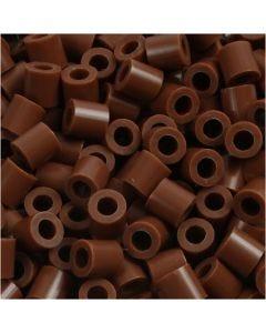 Rørperler, str. 5x5 mm, hullstr. 2,5 mm, medium, chocolate (32249), 1100 stk./ 1 pk.