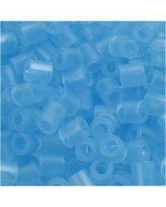 Rørperler, str. 5x5 mm, hullstr. 2,5 mm, medium, blå neon (32235), 6000 stk./ 1 pk.