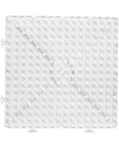Perleplate, stor samlekvadrat, JUMBO, transparent, 1 stk.