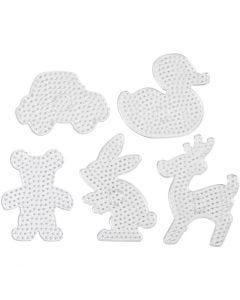 Perlebrett, str. 16x19,5-19x24 cm, JUMBO, transparent, 5 stk./ 1 pk.