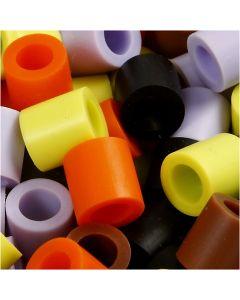 Rørperler, str. 10x10 mm, hullstr. 5,5 mm, JUMBO, høst mix, 3200 ass./ 1 pk.