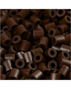 PhotoPearls, str. 5x5 mm, hullstr. 2,5 mm, mørk brun (2), 1100 stk./ 1 pk.