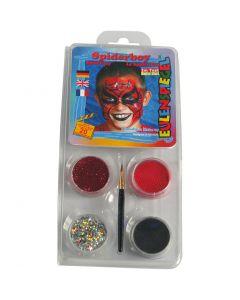 Eulenspiegel Ansiktsmaling - sminkesett, spiderman, ass. farger, 1 sett