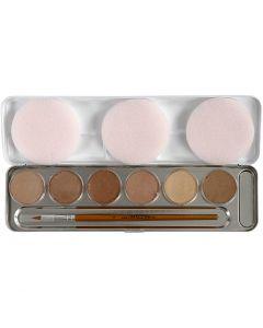 Eulenspiegel Ansiktsmaling, skin colours, 6 farge/ 1 sett
