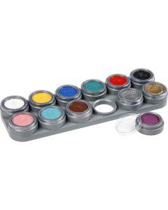Grimas Ansiktsmaling, ass. farger, 12x2,5 ml/ 1 stk.